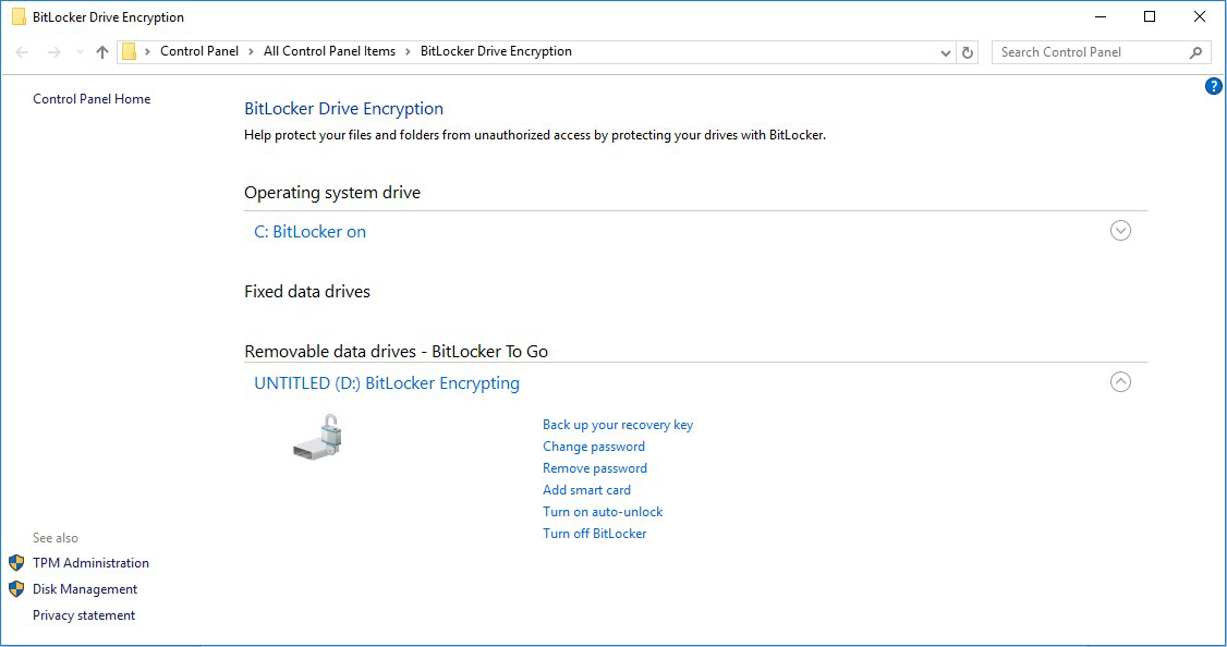 Microsoft BitLocker Administration and Monitoring (MBAM