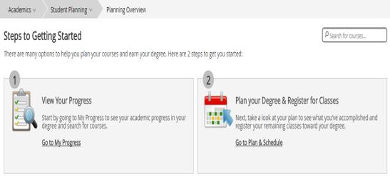 Student Planning Screenshot